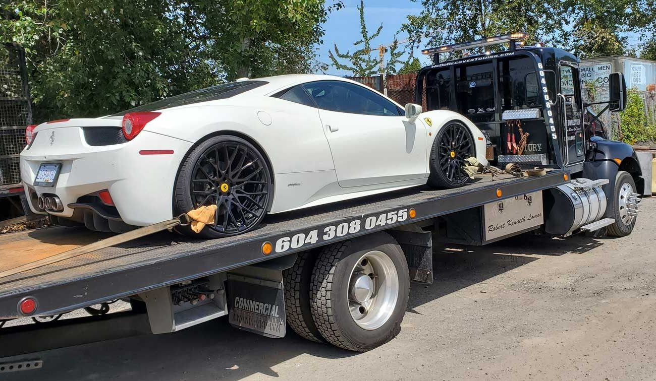 We help towed with a luxury car in Langley